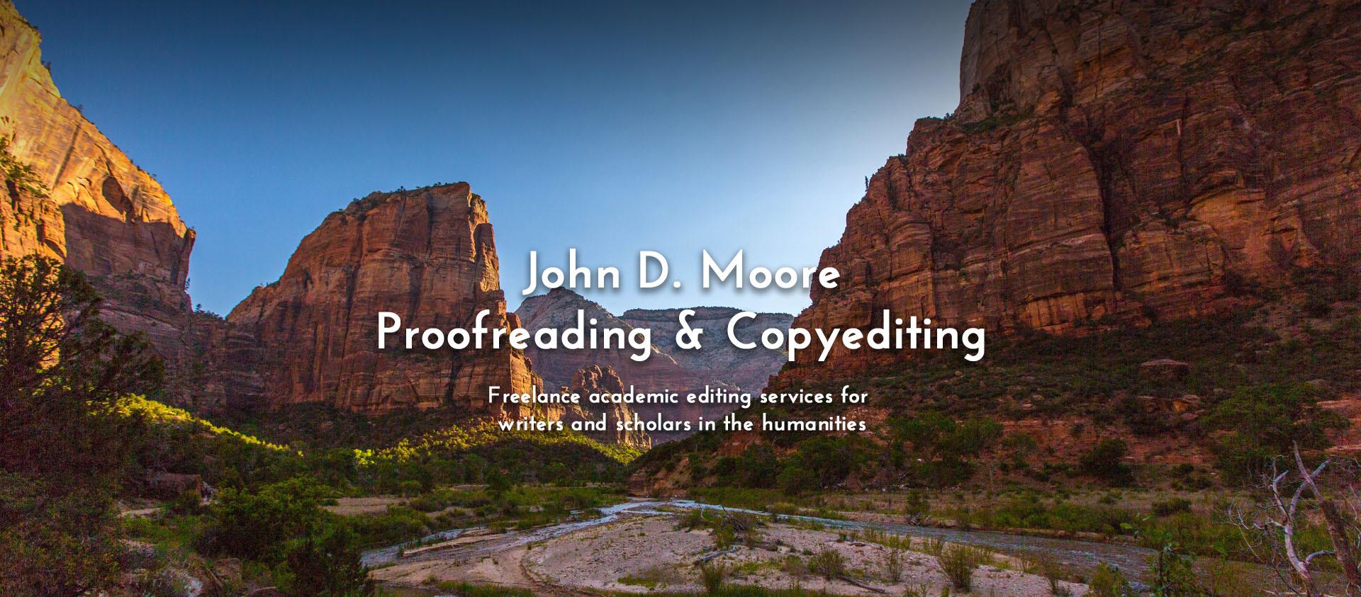 John D. Moore Proofreading & Copyediting
